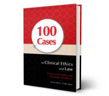 100cases in clinical ethics and law refrence book